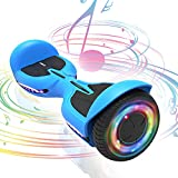 TOMOLOO Hoverboard 6.5' Two-Wheel Self Balancing Hover Board with Built In Bluetooth Speaker and LED Colorful Lights for Hoverboards For Kids Ages 6-12 Adults UL2272 Certified