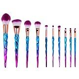 Unicorn brochas kabuki de maquillaje Fundación Contour para maquillaje en polvo cepillo de cejas Blush cara 7pcs/set