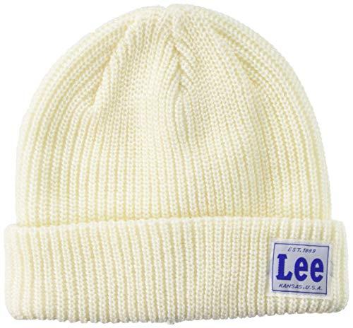 [リー] ニット帽 LE KIDS WATCH CAP ACRYLIC 100276601 WHITE 日本 53cm~55cm (日本サイズS相当)