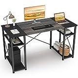 Ecoprsio Computer Desk with Shelves, 47