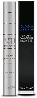 MD Lash Factor Eyelash Growth Serum  Enhances Your Natural Lashes For A Fuller, Longer & Denser Look   Eye Lash Enhancer for Women   0.2 Fl Oz - 6 Month Supply