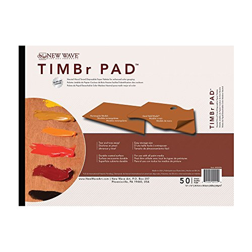 """New Wave TIMBr Disposable Paper Palettes - Rectangular - 12"""" x 16"""""""