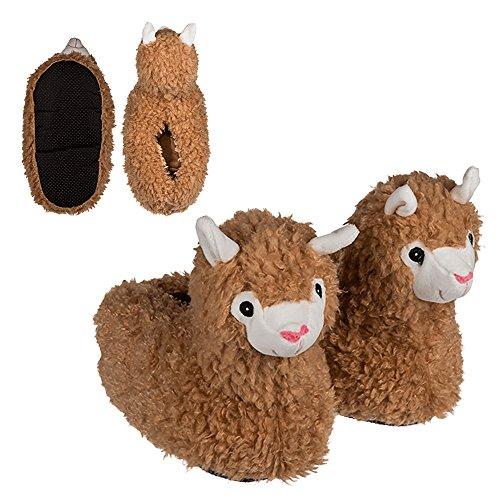 Preis am Stiel Kuschel-Hausschuhe \'\'Lama\'\' - Größe: 37/38 | Pantoletten Damen | Geschenk für Mädchen | Lama Geschenk | Pantoffeln | Plüsch Hausschuhe | Alpaka | lustige Geschenke