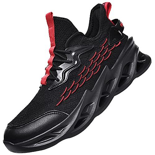 Zapatillas Deporte Hombre Deportivas Zapatillas,Hombre Zapatillas Casual Zapatos para Caminar Transpirables,Black_42