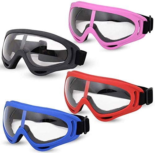 lowest Valleycomfy 4 Pack Skiing Goggles, Adjustable Protective Motorcycle Goggles, Riding Safety popular Glasses, UV Protection lowest Anti Fog Snow Goggles for Men Women Youth Kids online sale