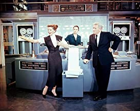 Desk Set 8x10 Color Promotional Photograph His Other Woman Katharine Hepburn Spencer Tracy with computer