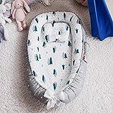 N-B Baby Nest Bumper Bed Sleeping Bed Cuna portátil para bebé Cuna Infantil Cuna Recién Nacido Cuna de Viaje Plegable