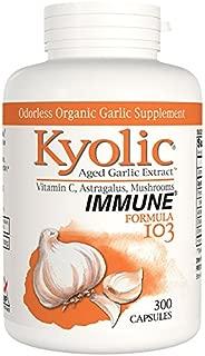 Kyolic Aged Garlic Extract Formula 103 Immune Formula, 300 Capsules