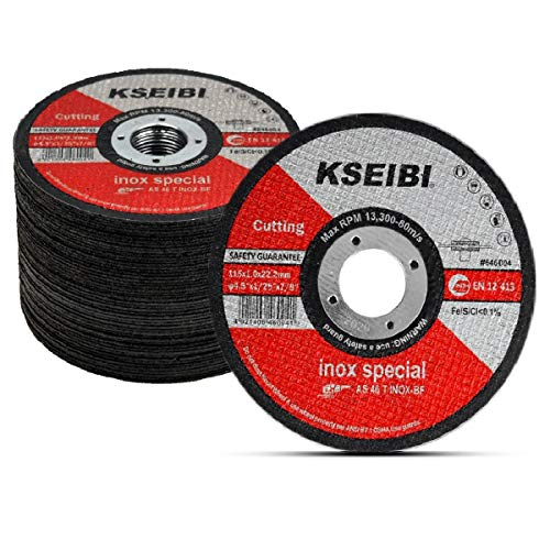 KSEIBI 50 Pack 646004 Angle Grinder Cut Off Wheels for Cutting Metal Stainless Steel 4-1/2'x0.040'x7/8' Type 41 Ultra Thin Disc