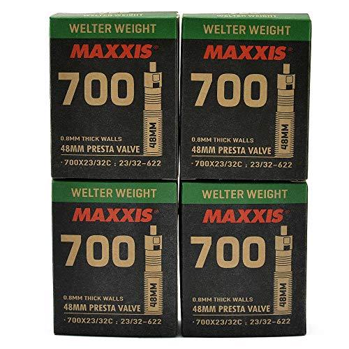 Maxxis Welter STB2033-4-N Lot de 4 chambres à air pour vélo 700 x 23-32C 48 mm