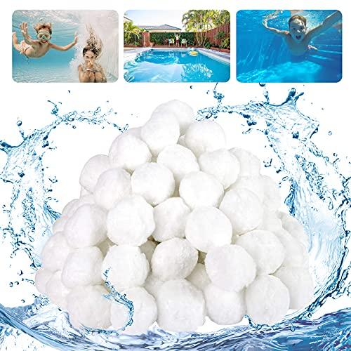 YUQIN Filter Balls Filterbälle Filter Sandfilteranlage 700g ersetzen 25kg Filtersand Zubehör Ersatz Poolfilter Filteranlage, für Pool, Schwimmbad, Filterpumpe, Aquarium Sandfilter. (700g)
