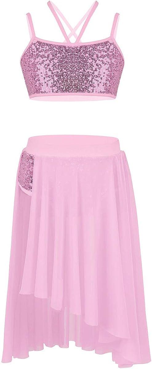 JEATHA Kids Girls Now free shipping Shiny Sequins Sleeveless Dance Ballet Costume Regular dealer