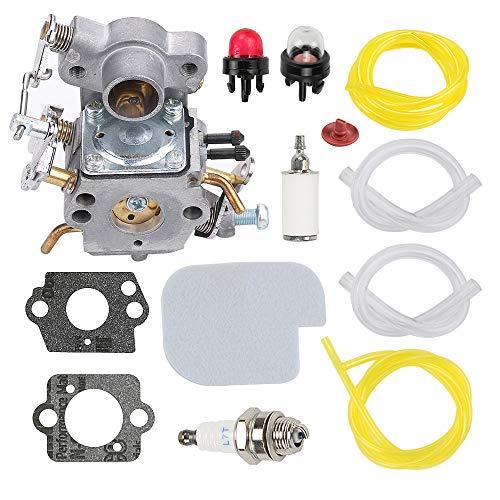 Fuel Li 545070601 C1M-W26C Carburetor for Poulan P3314 P3314WS P3314WSA P3416 P3516PR PP3516AVX 35cc 16' P4018 P4018AV 18' Husqvarna Craftsman Chainsaw 530035589 530035590 with Air Filter Kit