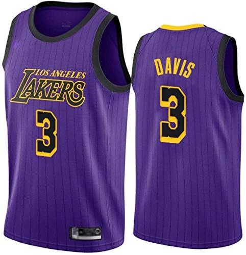 llp Davis Jersey, Los Angeles Lakers 3# Jerseys de Baloncesto para Hombres, Transpirable Swingman Jersey Fans Deportes sin Mangas Camiseta (Size : Medium)