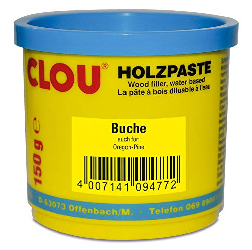 Clou Holzpaste zum Reparieren und Auskitten von Holzschäden buche, 150 g: gebrauchsfertige Paste geeignet für den gesamten Innenbereich