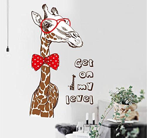 Sufengshop Kleurrijke Giraffe Muurstickers Woonkamer Slaapbank Muursticker Literatuur Studie Decoreren Cartoon Sticker Verpakking Grootte 60×90cm