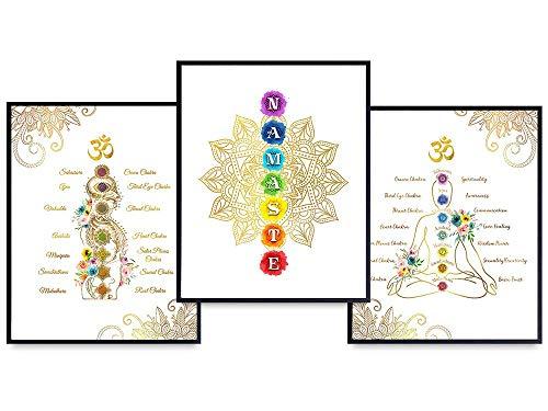 Boho Mandala Wall Decor - Chakra Wall Art - Mandala Wall Art - Spiritual Gifts for Women - Zen Decor - Spa Namaste Wall Decor - Buddhism Yoga Decorations - Buddha Wall Art - New Age Meditation Gifts