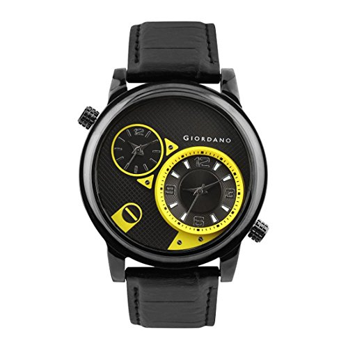 Giordano Analog Multi-Colour Dial Men's Watch - 60058 BLK/Yellow