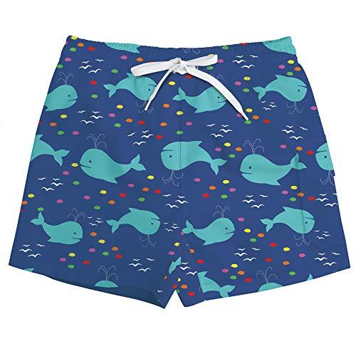 Vogseek Basketball-Shorts FüR Jungen, Kleine Kinder Cooler Undersea Animal Print Mid Taille Loose Fit Schwimmen KostüM Beachwear FüR Surfen, 10 Jahre, GrüN