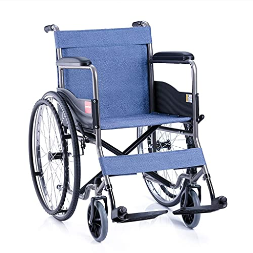 Rollstuhl-Selbstantrieb leicht faltbar gemütlich mit Bremsarmlehne 100 kg Kapazität