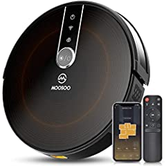 【MOOSOO RT50】- Smart robot vacuum cleaner 【Upgraded Gyro Navigation 2.0】: Equipped with upgraded Gyro navigation 2.0 technology, MOOSOO robotic vacuum clean your home in an efficient zig-zag pattern. Leave you a cleaner house with lower power consump...