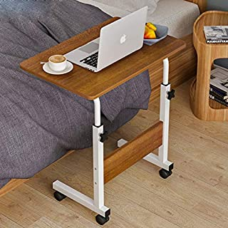 Adjustable Laptop Table Computer Table Desk for Bedroom Living Room Office Over Sofa Table 60x40cm