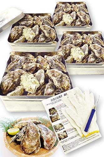 【4セット】 兵庫県産 牡蠣 カンカン焼き 冷凍 2kg(20〜30個)×4 【冷凍】 缶 入り(ナイフ・軍手付) 殻付き 海鮮 バーベキュー セット BBQ かき カキ 瀬戸内海
