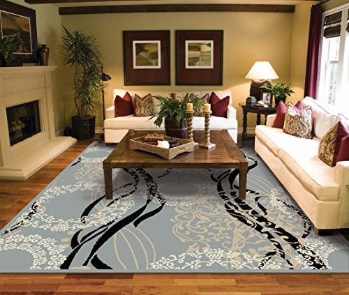 Large Rugs for Living Room 8x10 Contemporary Gray Area Rugs Under 100 Prime Rug