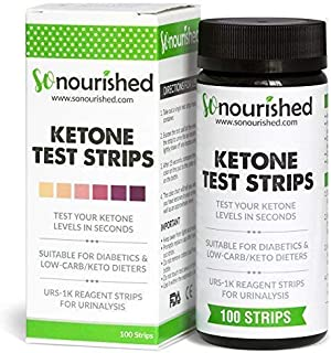 Urine Ketone Strips - Suitable for Diabetics and Low Carb Dieters - Ketosis Strips & Diabetic Test Strips. Ketosis Test with Keto Strips Kit Takes Only 15 Seconds! 100 Keto Sticks