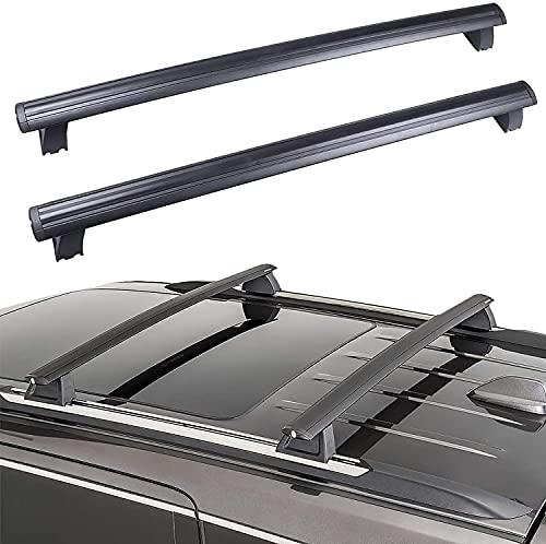 MixFactory 2 Stück Aluminium Autodachträger Querträger für Jeep Grand Cherokee 2011-2020 Frachtträger Dachträger Querträger Gepäckträger Fahrraddachträger für Reisen und Camping