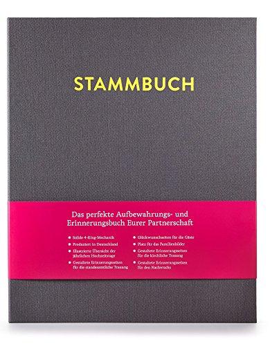 DIN A4 Stammbuch, Stammbuch der Familie, Familienstammbuch CASPAR (Platingrau)