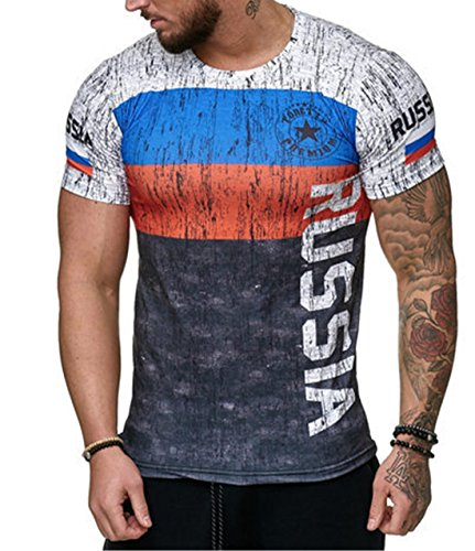 YeeHoo Sommer Modisch Druck Herren Deutschland T-Shirt Germany Männer Shirt Schwarz