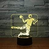 Yddlie 3D Night Light-Handball 3D LED Light 7 Couleurs Veilleuse pour Enfants Touch Light Baby Sleep Night Light Indoor Down Light Boat