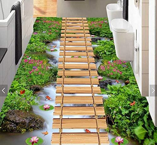 whmyz Alfombra 3D para el hogar, Sala de Estar, Dormitorio, Tienda Completa, Pasillo de Entrada, Pasillo, Pasillo, Alfombrilla para Cocina, Alfombra para Puerta de Cocina-Lawn Creek_El 1