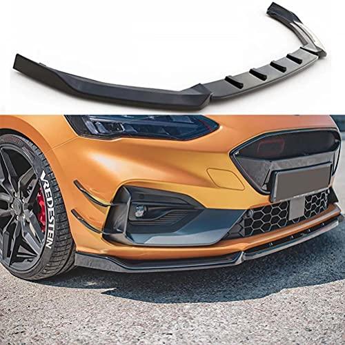 3 uds PP Split barra delantera pala frontal difusor de labio delantero alerón delantero para Ford Focus mk4 ST/st-line 2019-2021 accesorios para automóviles