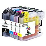 Palmtree 4 Pack Compatible Cartouche d'encre Brother LC123 pour Brother MFC-J6520DW MFC-J6720DW DCP-J132W DCP-J152W DCP-J172W DCP-J4110DW MFC-J4410DW MFC-J4510DW MFC-J4610DW MFC-J470DW MFC-J4710DW