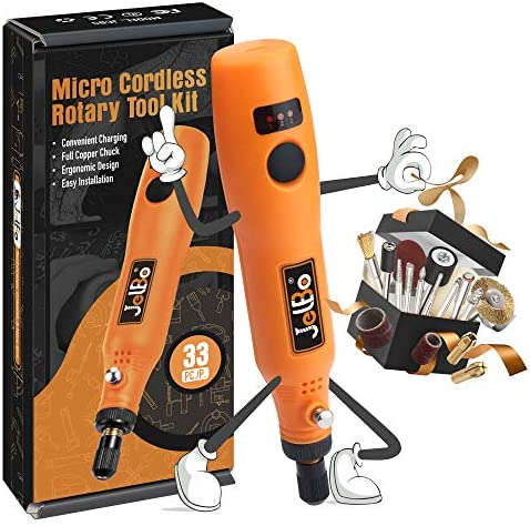 Multi Purpose Cordless Rotary with Accessory JelBo Mini Variable Speed Rotary Tools Electric product image
