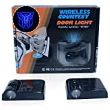 Spoya Blue The Transformers Autobots Wireless Magnetic Car Door Step LED Welcome Logo Shadow Light Projection Projector Light