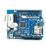 ARCELI Ethernet W5100 Shield Scheda di espansione di Rete con Slot per Scheda Micro SD per Arduino
