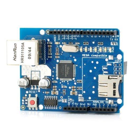 ARCELI Tarjeta de expansión de Red Ethernet W5100 Shield con Ranura para Tarjeta Micro SD para Arduino