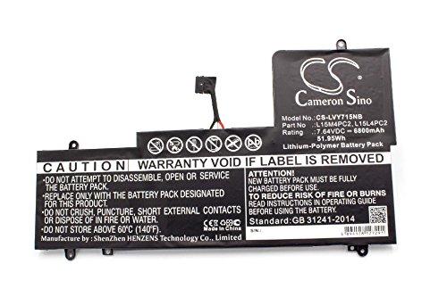 vhbw Batería Recargable Compatible con Lenovo Yoga 710-15ISK, 710-15ISK (80U0) Notebook (6800 mAh, 7.64 V, polímero de Litio)