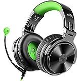 OneOdio DJ用 ヘッドホン マイク付き ゲーミングヘッドセット 有線 密閉型 モニターヘッドホン 緑