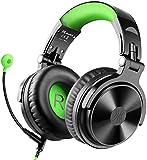 OneOdio DJヘッドホン 密閉型モニターヘッドホン オーバーイヤーヘッドフォン スタジオレコーディング/楽器練習/ミキシング/TV視聴/映画鑑賞/ゲームなどに対応 (緑)
