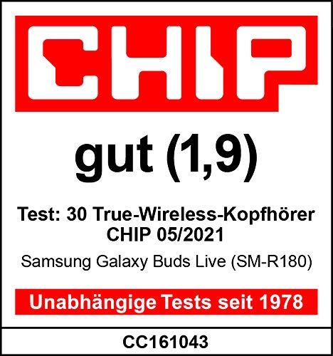 Samsung Galaxy Buds Live, kabellose Bluetooth-Kopfhörer mit Noise Cancelling (ANC), komfortable Passform, ausdauernder Akku, Wireless Kopfhörer in blau