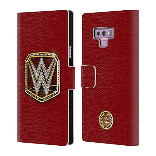 Official WWE Universal Champion Title Belts Leather Book Wallet Case Cover Compatible For Samsung Galaxy Note9 / Note 9