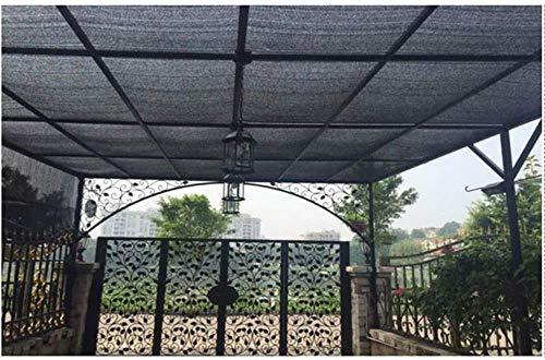 XH Shade Net, Thick Umbrella Net, Blume-förmige Sonnenschutz, Geeignet for Rolläden, Pflanzenschutz, Balkon, Regenschirm Tuch, Garten, Schwarz (Size : 5 * 10M)