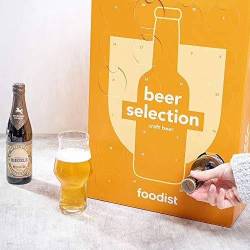 Foodist Premium Craft Beer Adventskalender 2020 - Internationale Biere als Geschenk-Set mit ausgefallenen Biersorten aus der ganzen Welt inkl. Tasting-und Rezeptbuch für Erwachsene (24 x 0.33l) - 2