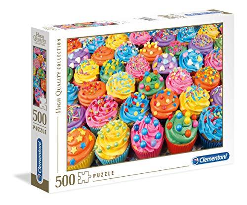 Clementoni- Puzzle 500 Piezas Colorful Cupcakes, Multicolor (35057.5)