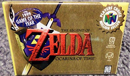 """Legend of Zelda Ocarina of Time MAGNET N64 Vintage Game Box 2""""x3"""" Fridge Locker"""
