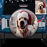 VEELU Custom Spare Tire Covers with Your Own Pictures for Jeep Trailer RV SUV Truck Polyester Sunscreen Waterproof Dust-proof Wheel Cover 23.5'-32.5'